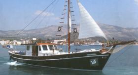 Motor Sailer Joanna K for charter