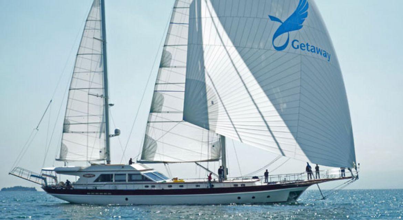 Motor Sailer Getaway for charter