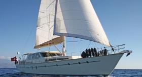 Motor Sailer Tango Charlie for charter